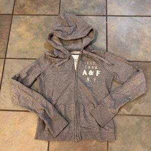 Abercrombie & Fitch gray soft hoodie size L